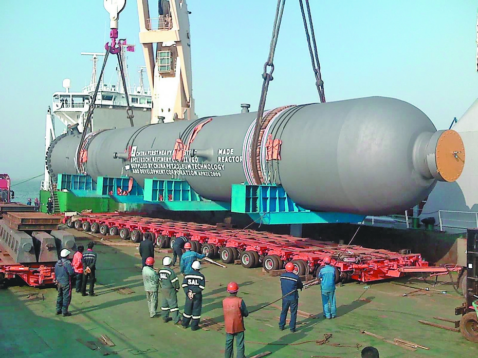 中国第一重型机械股份公司核电石化事业部坐落于大连棉花岛,背靠美丽