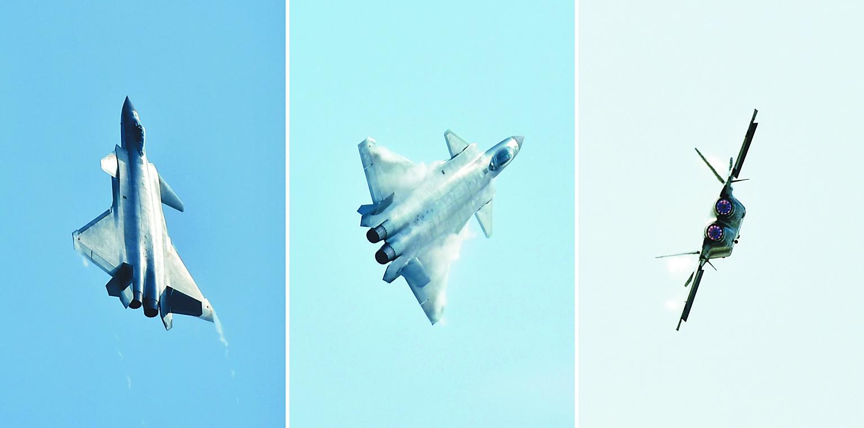 空军试飞员驾驶新一代隐身战斗机——歼-20飞机首次亮相航展.